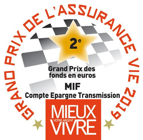 MIF 2nd Meilleur fonds euros grand prix 2019